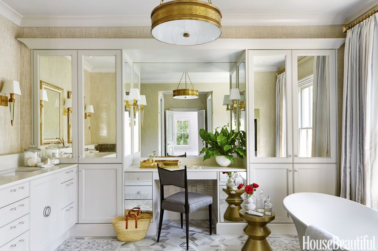 Pampering Comes Easy in This Gilded Master Bath