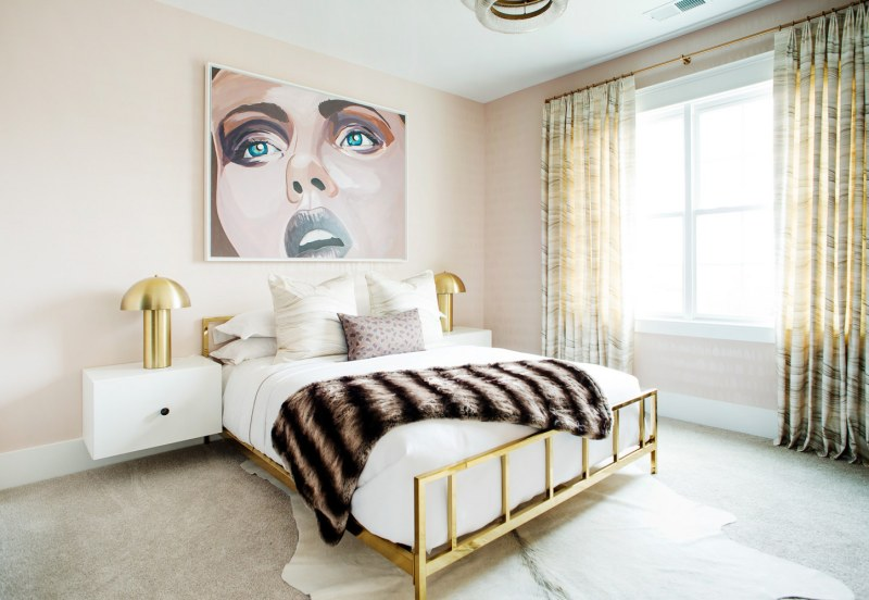 Tour a Blush Bedroom Inspired by the Original Artwork