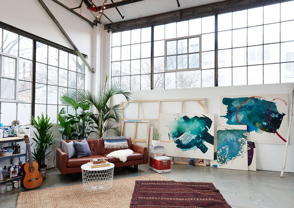 Inside An Artist's Streamlined Work-Live Loft